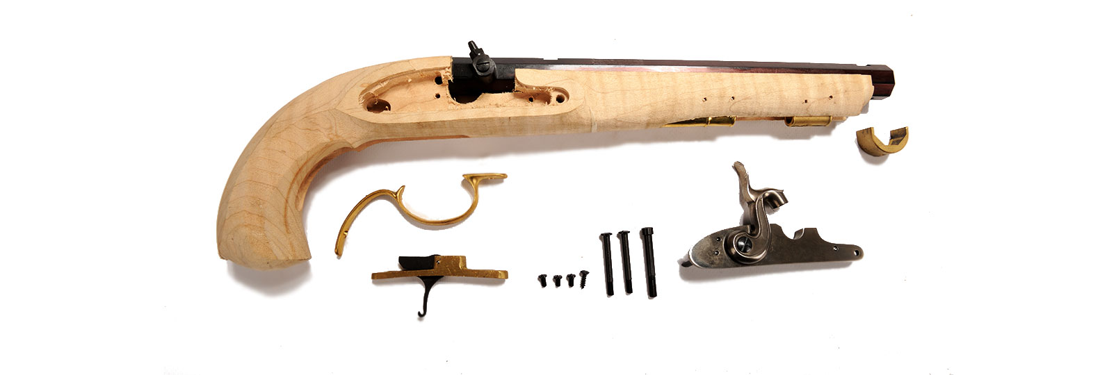 Pistolet Kentucky Maple a Percussion Kit