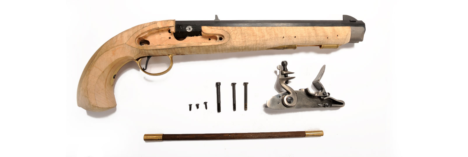 Pistolet Kentucky Maple a Silex Kit