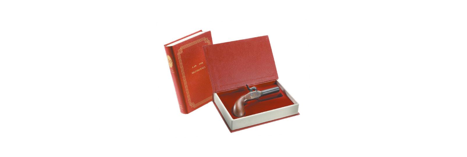 Pistola Derringer Liegi in cofanetto libro